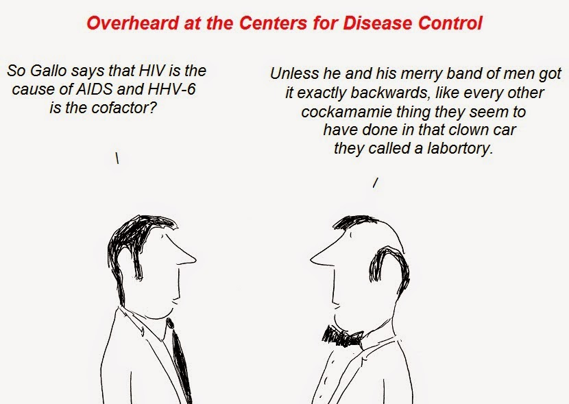 cartoon, cartoons, hhv-6, aids, gallo, fraud, ruscetti, hiv, cfs, fauci, causation, transmission