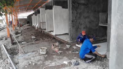 Proyek Kios Pujasera Pasar Kliwon Rp 500 Juta Molor