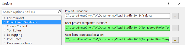 vs project template location
