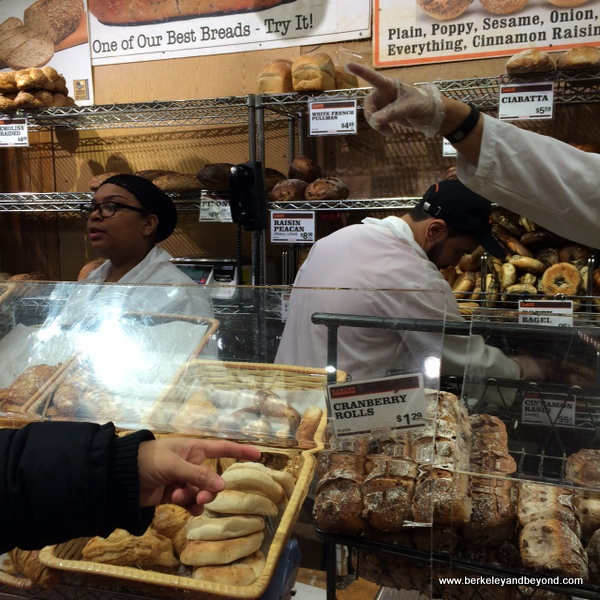 bagel counter at Zabar's deli in NYC