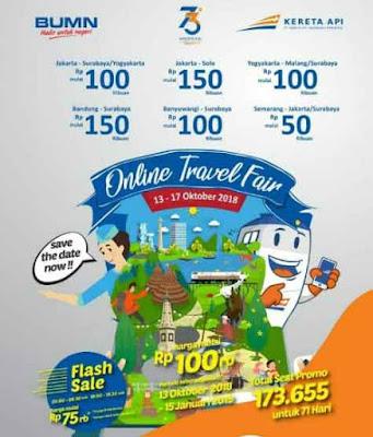 Tiket KA Promo Murah Online Travel Fair