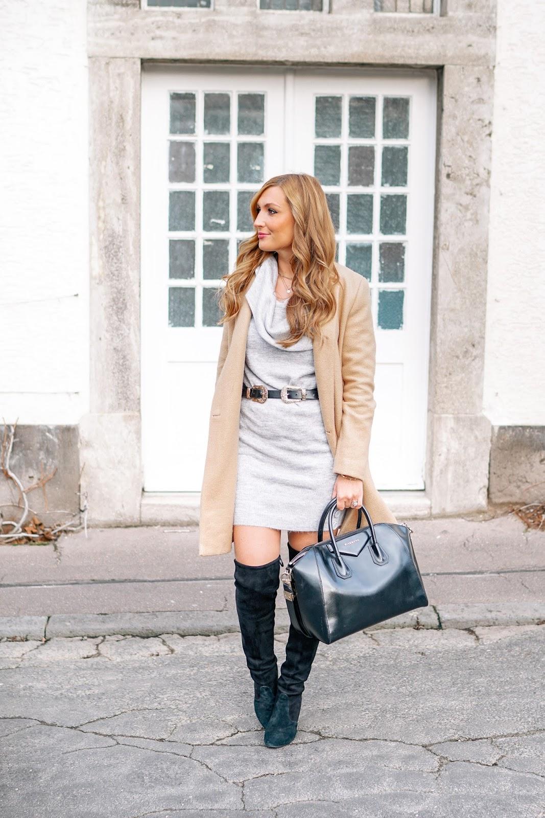 Graues Strickkleid Kombinieren Stilvolle Abendkleider