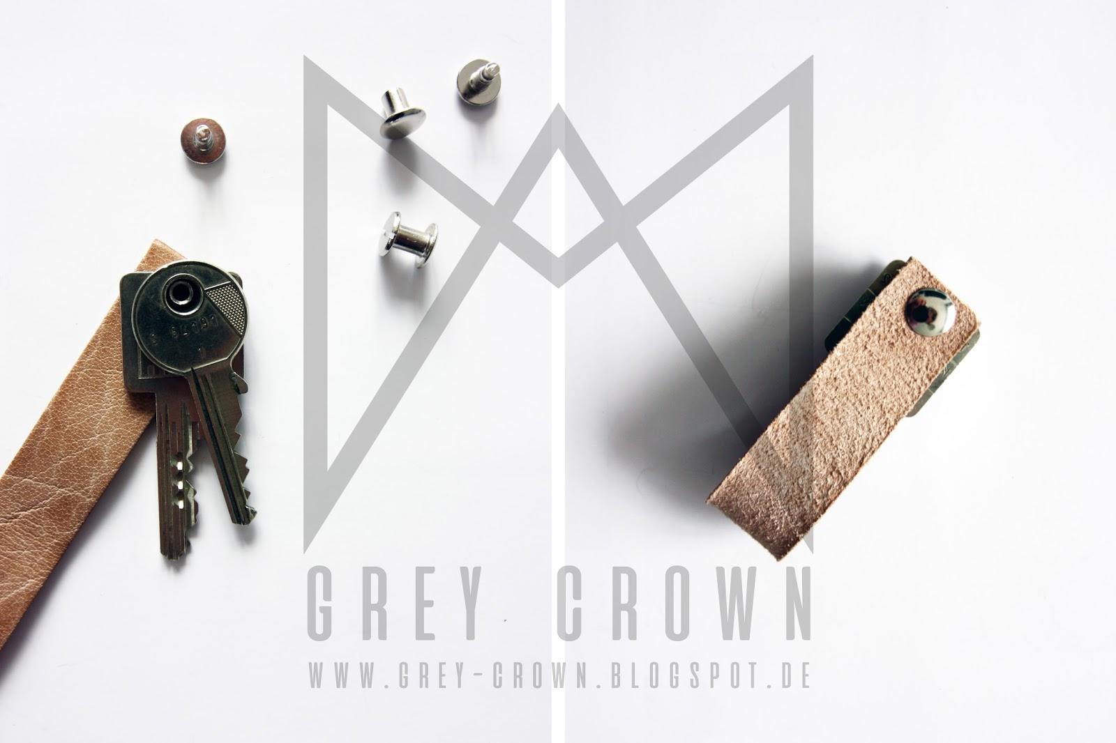 Grey Crown Diy Leder Schlusselanhanger