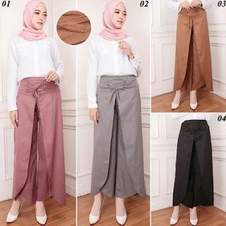 model rok batik muslim untuk orang gemuk