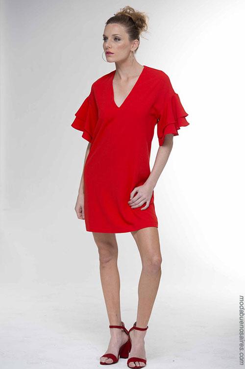 Vestidos de moda verano 2018 cortos. Moda mujer 2018.