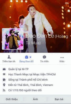 Sơn Tùng M-TP bất ngờ bị đổi tên Facebook thành Đan Lê