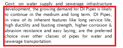 Analysis of Srikalahasthi Pipes Limited (Lanco Industries Limited), part of Electrosteel group, manufacturing Ductile Iron (DI) pipes, pig iron and portland slag cement. Dr Vijay Malik, Dr Stock analysis