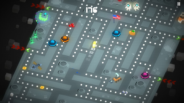 Screenshot from PAC-MAN 256