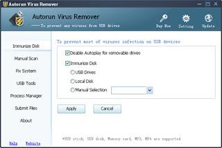 تحميل برنامج Autorun Virus Remover لازالة فيروس الاوتورن من الفلاش