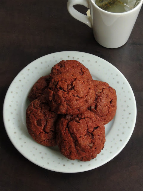 Chocolate oats cookies