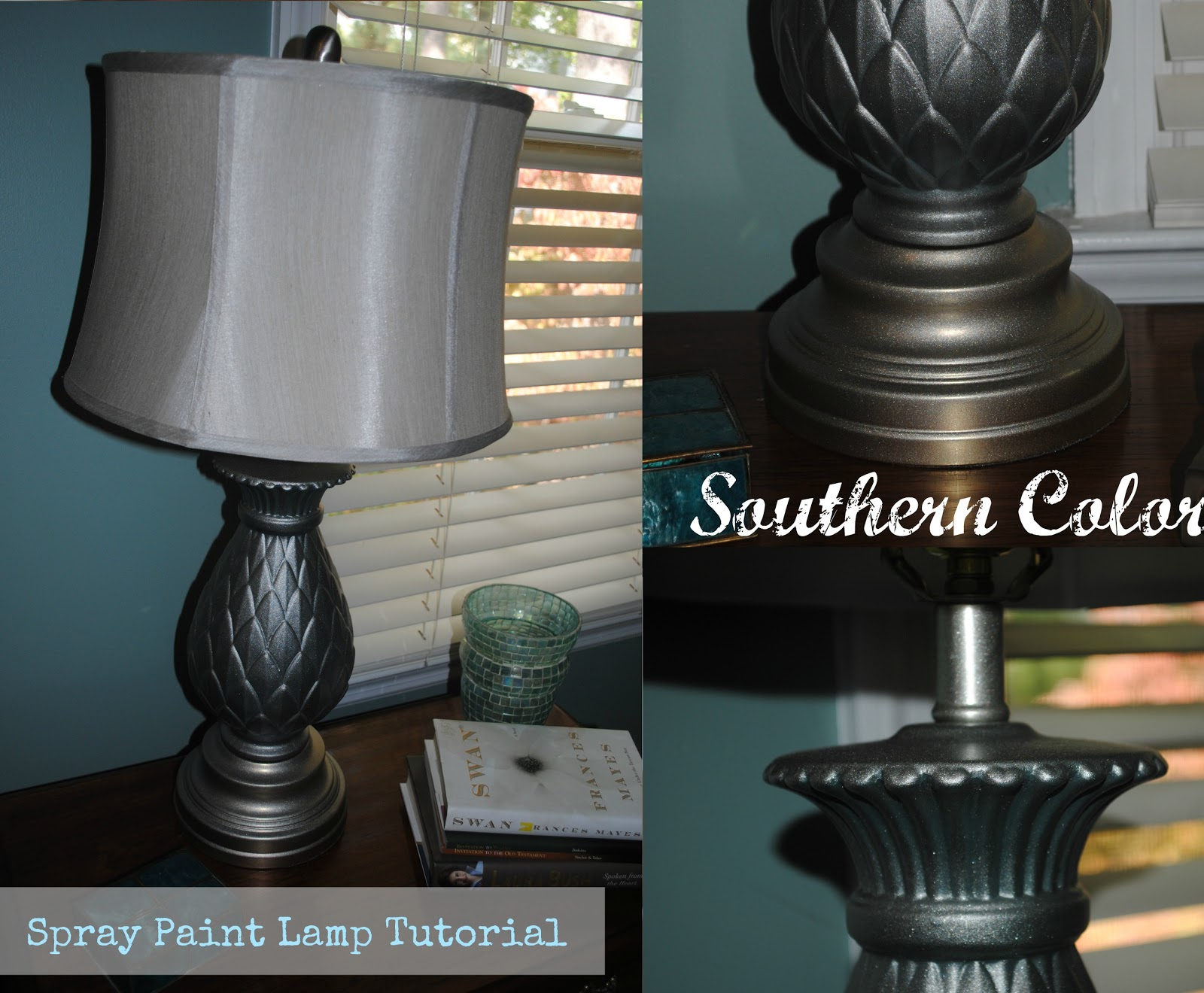 Southern Color: Spray Paint Lamp Tutorial