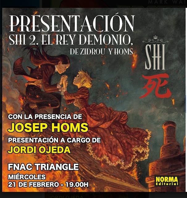 """Presentación de """"Shi: El rey demonio"""" de Zidrou y Homs en FNAC Triangle (BCN)."""
