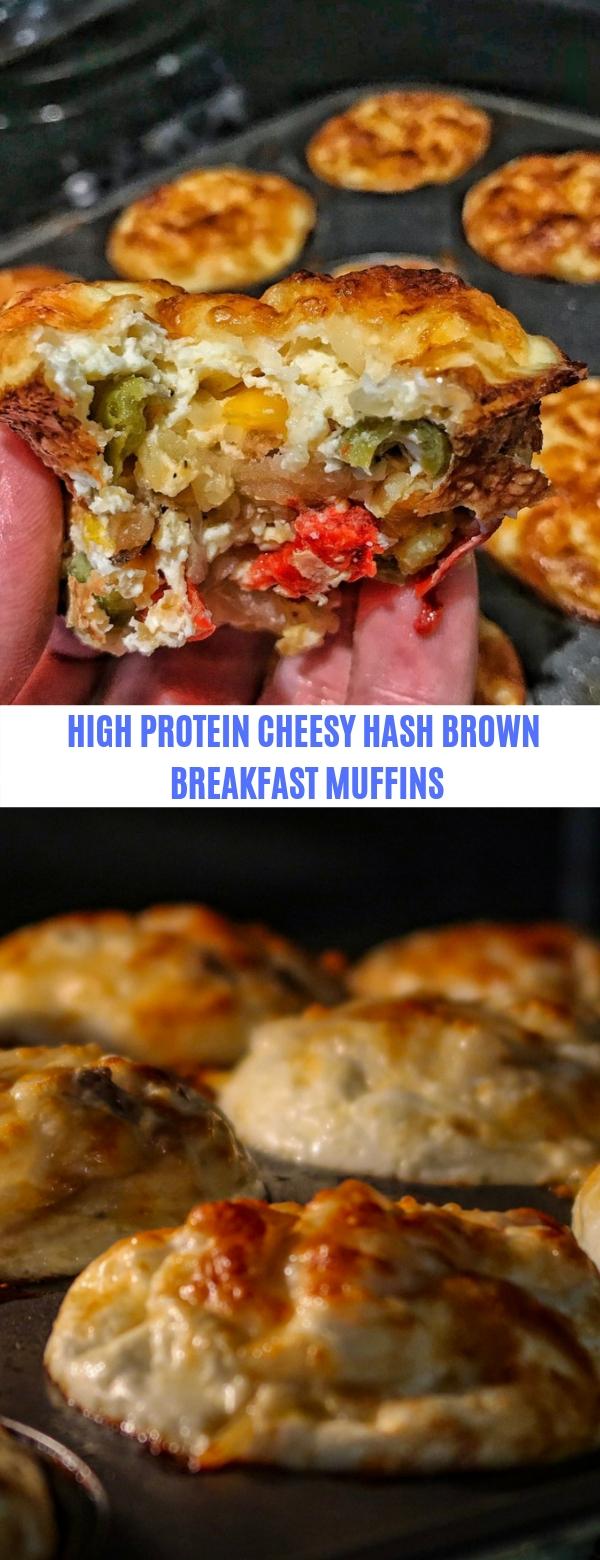 HIGH PROTEIN CHEESY HASH BROWN BREAKFAST MUFFINS