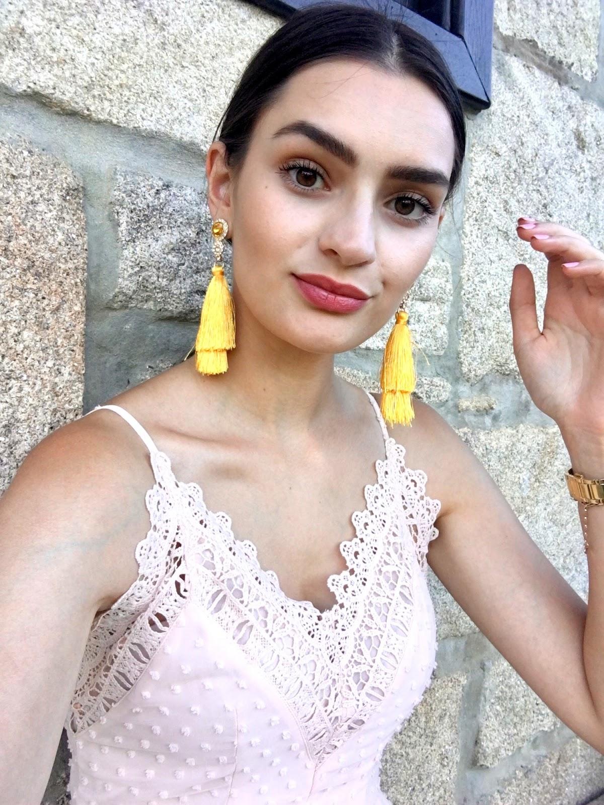 peexo summer wedding guest johnny loves rosie yellow tassel earrings