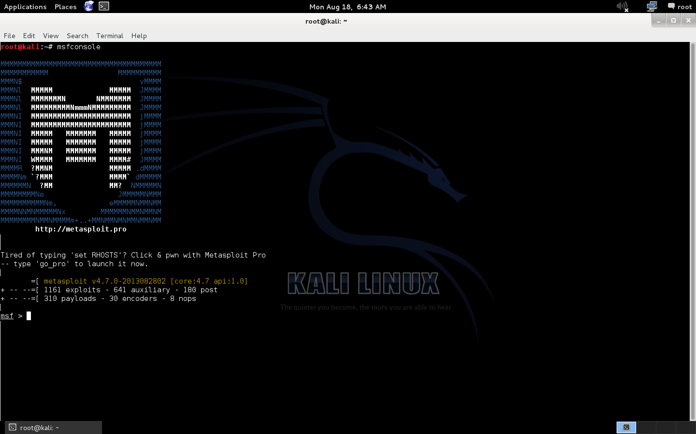 hackonce: Hack windows 7 with Metaspoit using kali linux