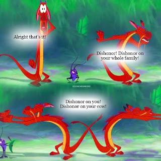 mulan, mushu, dishonor, meme, animation, cartoon