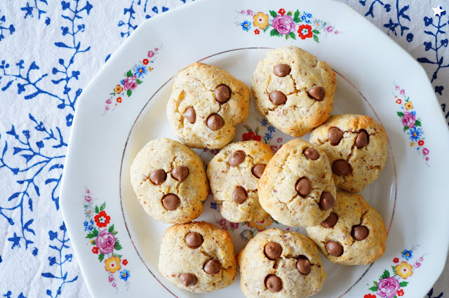 cookies coco amande dessert vaisselle ancienne vintageplate
