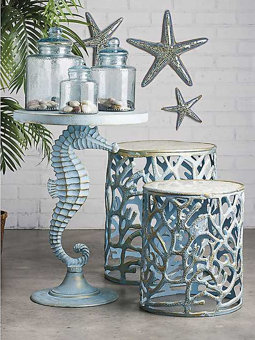 Coastal Accent Tables End Table Ideas