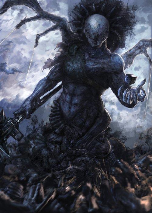 Yuriy Chemezov algido deviantart ilustrações fantasia ficção científica sombria demônios pesadelos