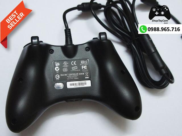Tay Cầm Xbox 360 Có Dây Chĩnh Hãng Chơi Game Tối Ưu Cho PC / FO3 / FO4 - Ảnh 2