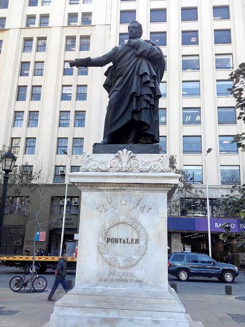 Estatua de Diego Portales, Santiago de Chile
