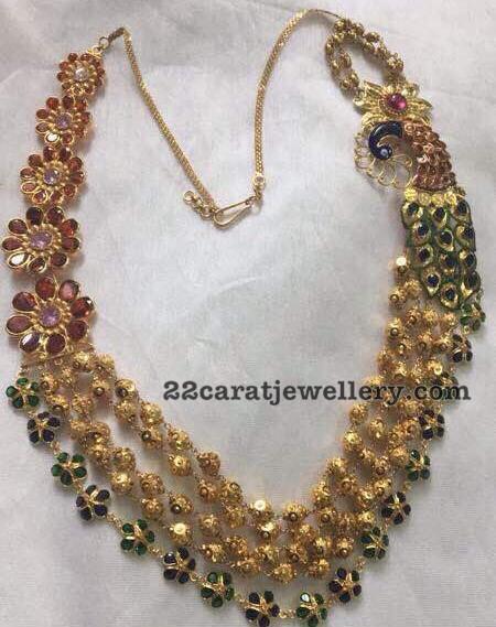 Five Layer Enamel Floral Necklace