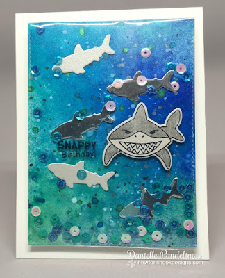 Shark Bites | Newtons Nook Designs | Card Created by Danielle Pandeline