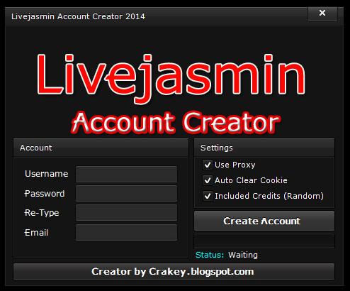 Livejasmin Account Creator 20187