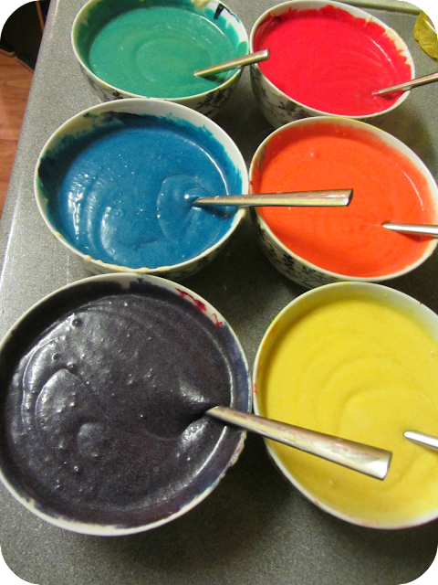 rainbow cake mix, rainbow cake, make a rainbow cake, how to