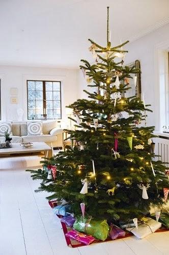 Navidad nórdica, en el interior y exterior de la casa