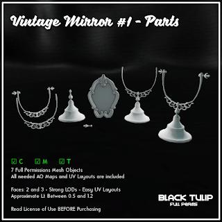 [Black Tulip] Mesh - Vintage Mirror #1 - Parts