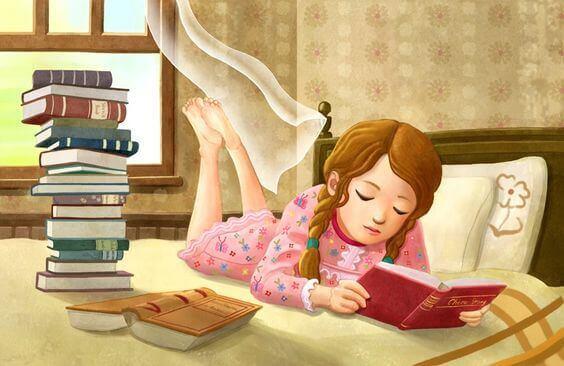 Adormeça seus filhos lendo um livro, não vendo televisão