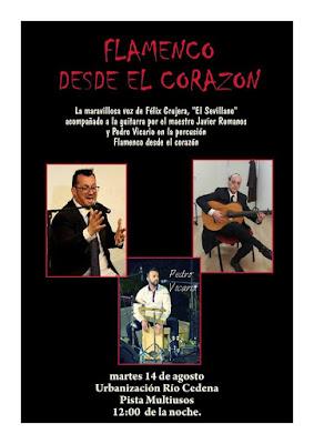 Cartel: Flamenco desde el corazón, 14 de agosto de 2018, Urb. Río Cedena (Toledo)