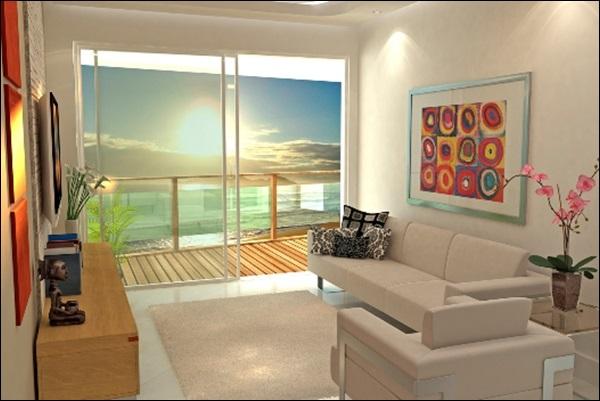 sala com pintura de cor clara