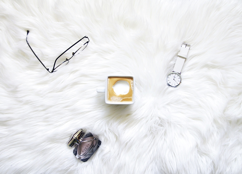 urban watch london collection, all white watch, gucci bamboo perfume, tijn eyewear, round glasses, flat lay