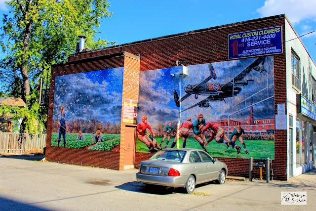 Murale w dzielnicy islington - zabytek