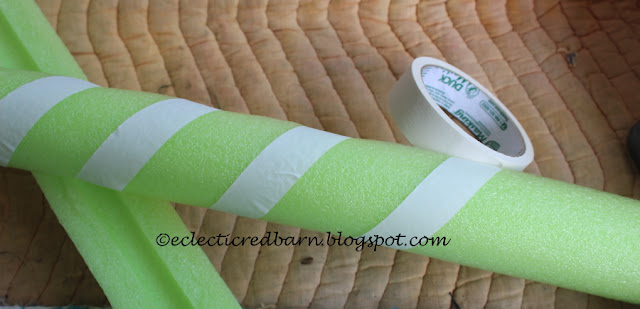 Eclectic Red Barn: Wrap the noodle with white tape