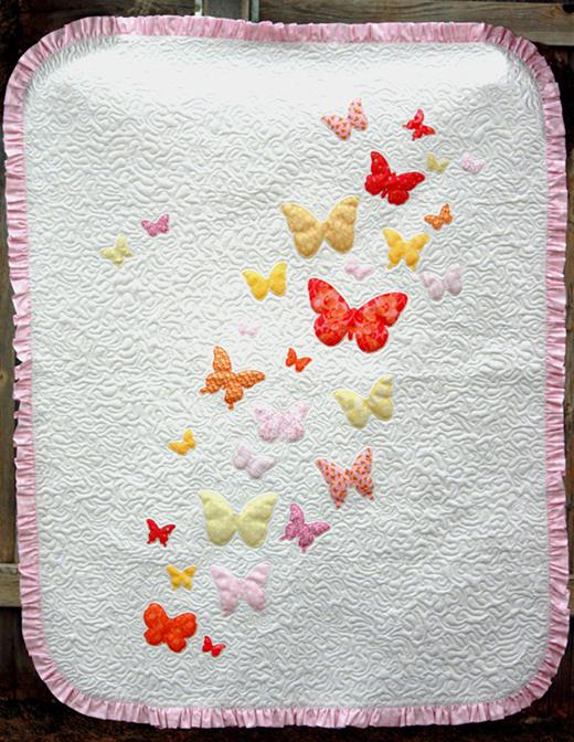 Butterflies a Flutter Baby Quilt Free Pattern