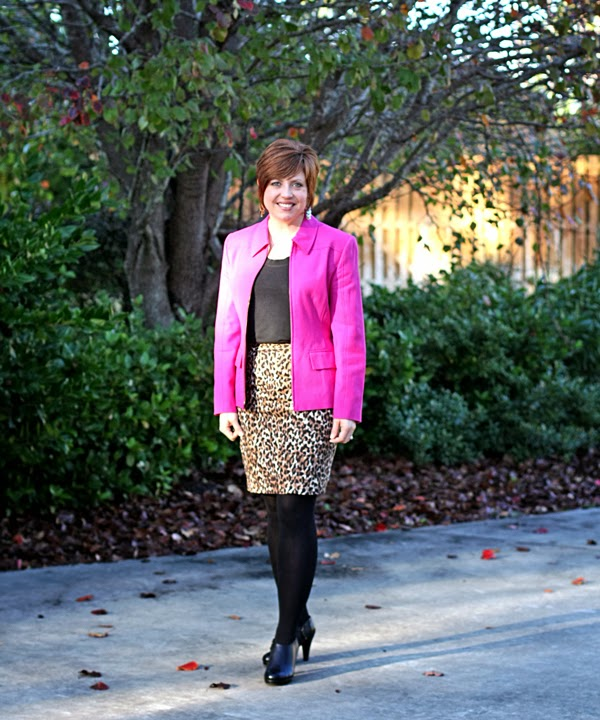 Hot pink and leopard, take two