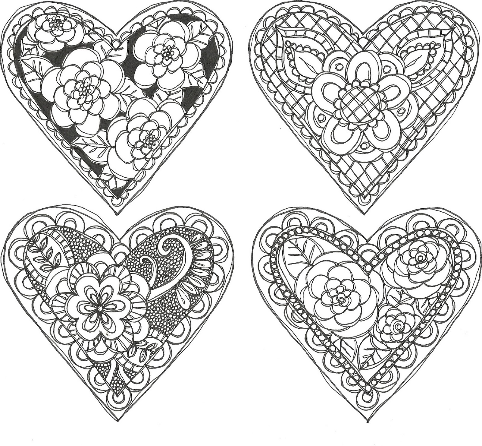 Pieces Of Me Doodle Valentines