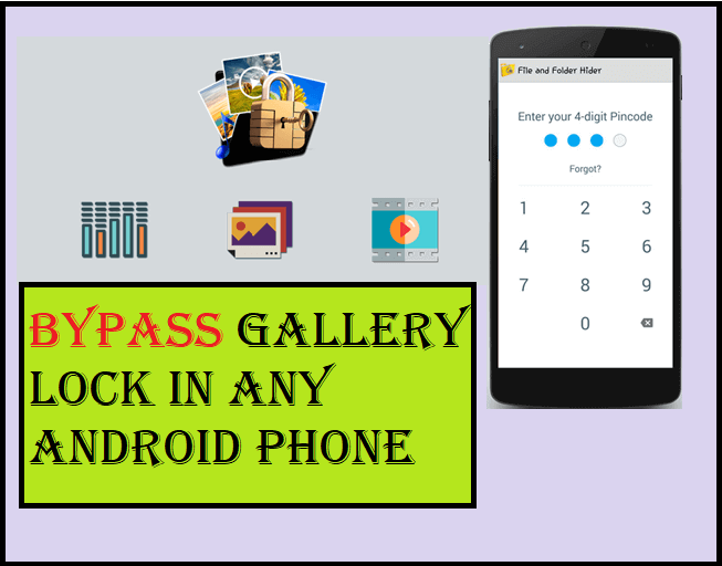 How to bypass gallery lock in any android phone | 100