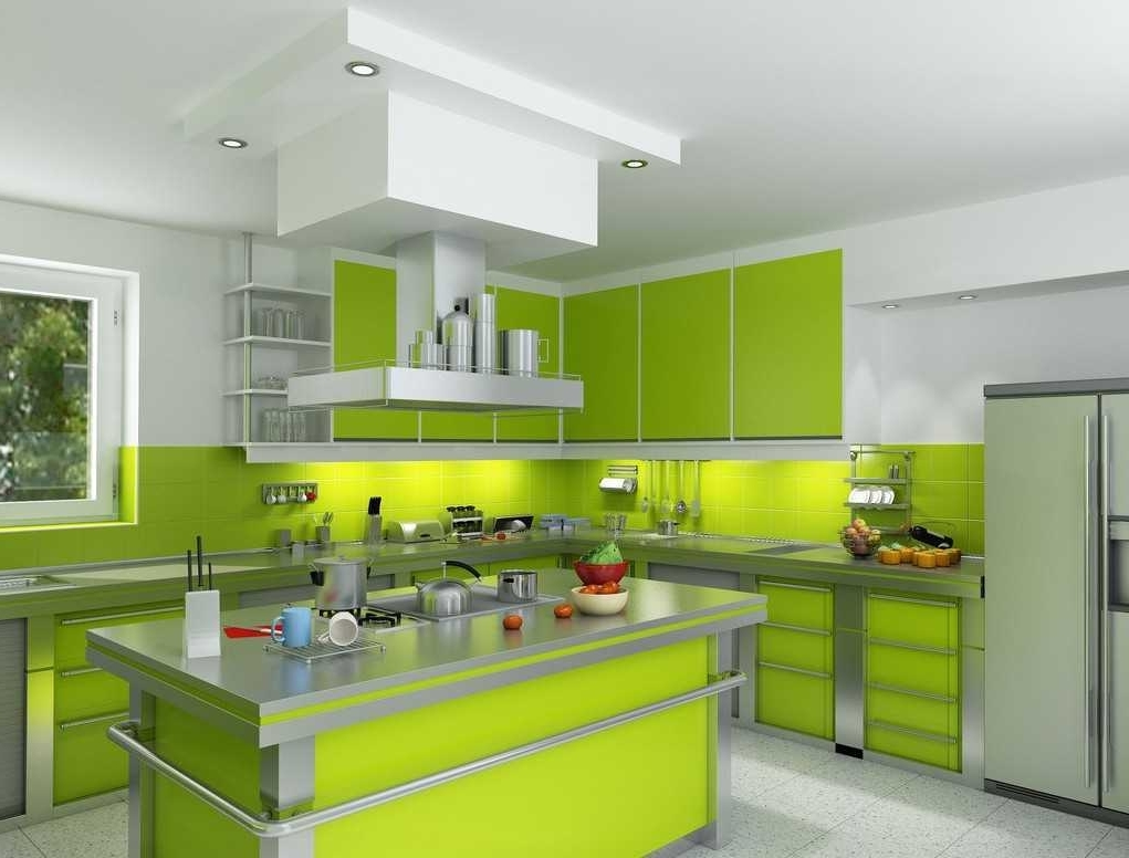 Interior Hijau 21 Model Desain Kitchen Sets Hijau