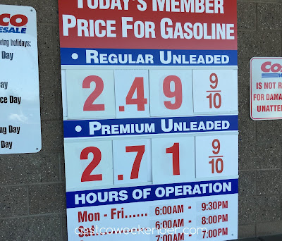 Costco gas for June 6, 2016 at Redwood City, CA