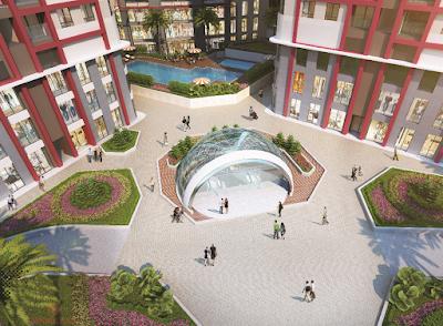 Khuôn viên xanh dự án Imperial Plaza