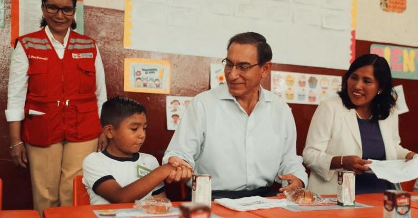 Presidente Martín Vizcarra destaca inicio satisfactorio del año escolar en el 96% de colegios estatales