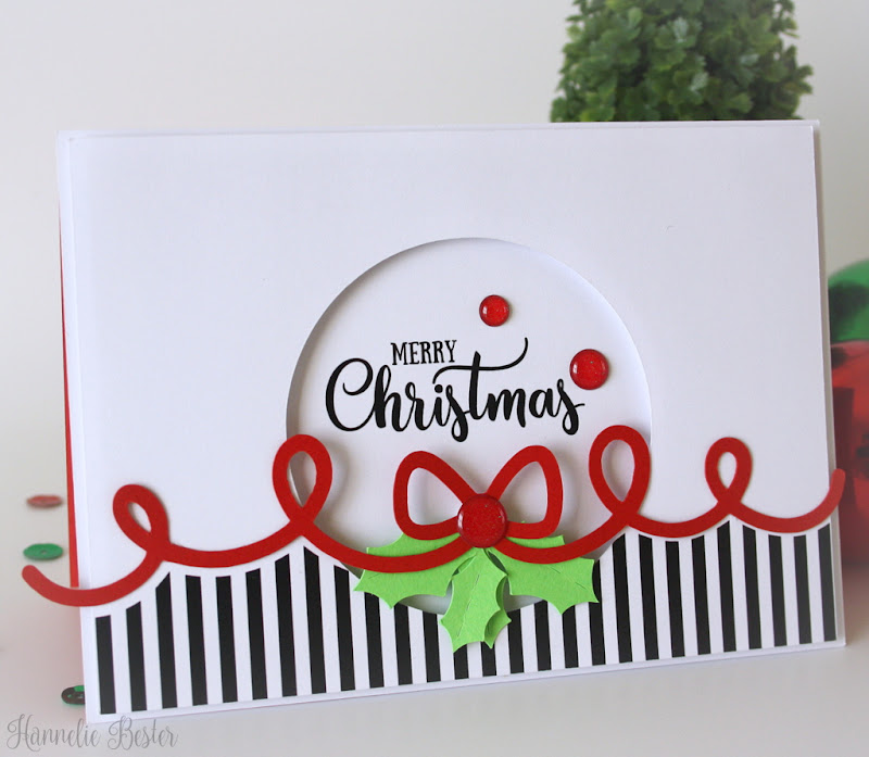 Clean and Simple Christmas card with bow