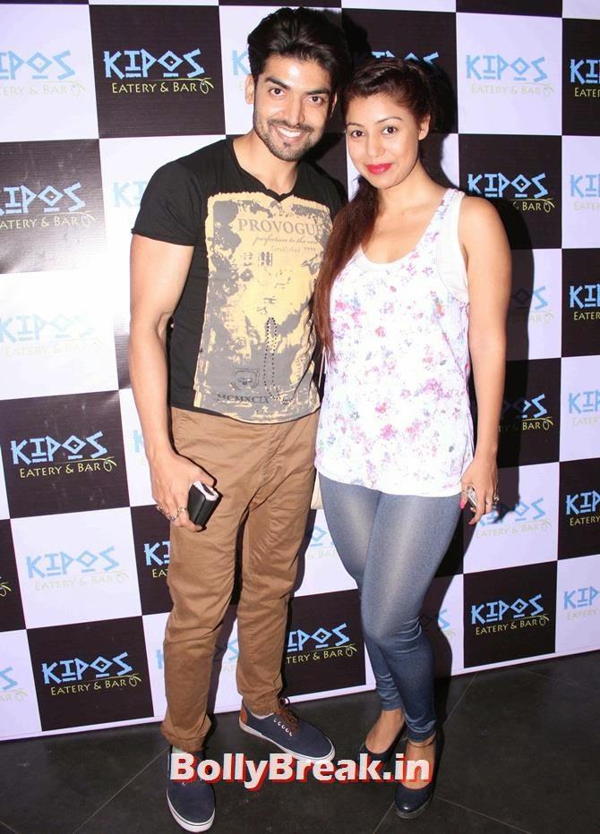 Gurmeet Choudary and Debina Bonnerjee, Tv Celebs at a restaurant launch