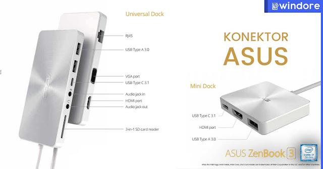 Konektor dan Port Tanpa Batas Asus Zenbook 3 UX390