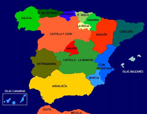 Country Of Spain Map.Sixth Grade Cebip Carpe Diem Our Country Spain