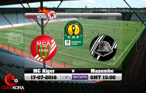 مشاهدة مباراة مازيمبي ومولودية الجزائر اليوم 17-7-2018 دوري أبطال أفريقيا